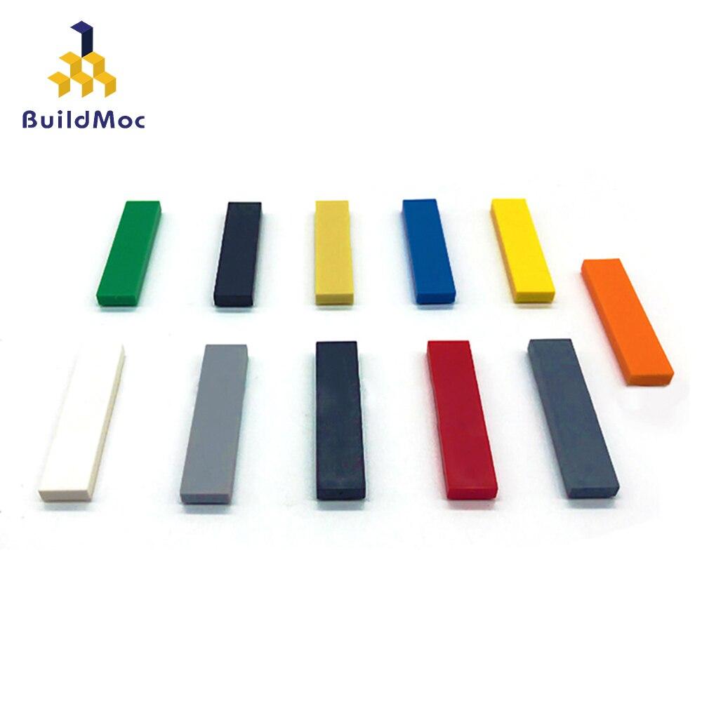 Bloques de construcción de figuras finas lisas para niños, 100 Uds., 1x4 puntos, educativo, creativo, tamaño Compatible con lego, juguetes para niños