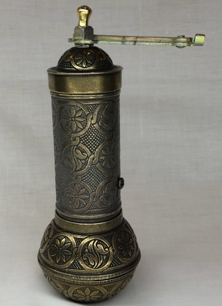 4-SILVER- Authentic -Anatolian- Turkish -Copper -Grinder- Salt -Pepper -Coffee-Mill-Spice-Salt-Grinder- Pepper -Grinder -Made- in-Turkey