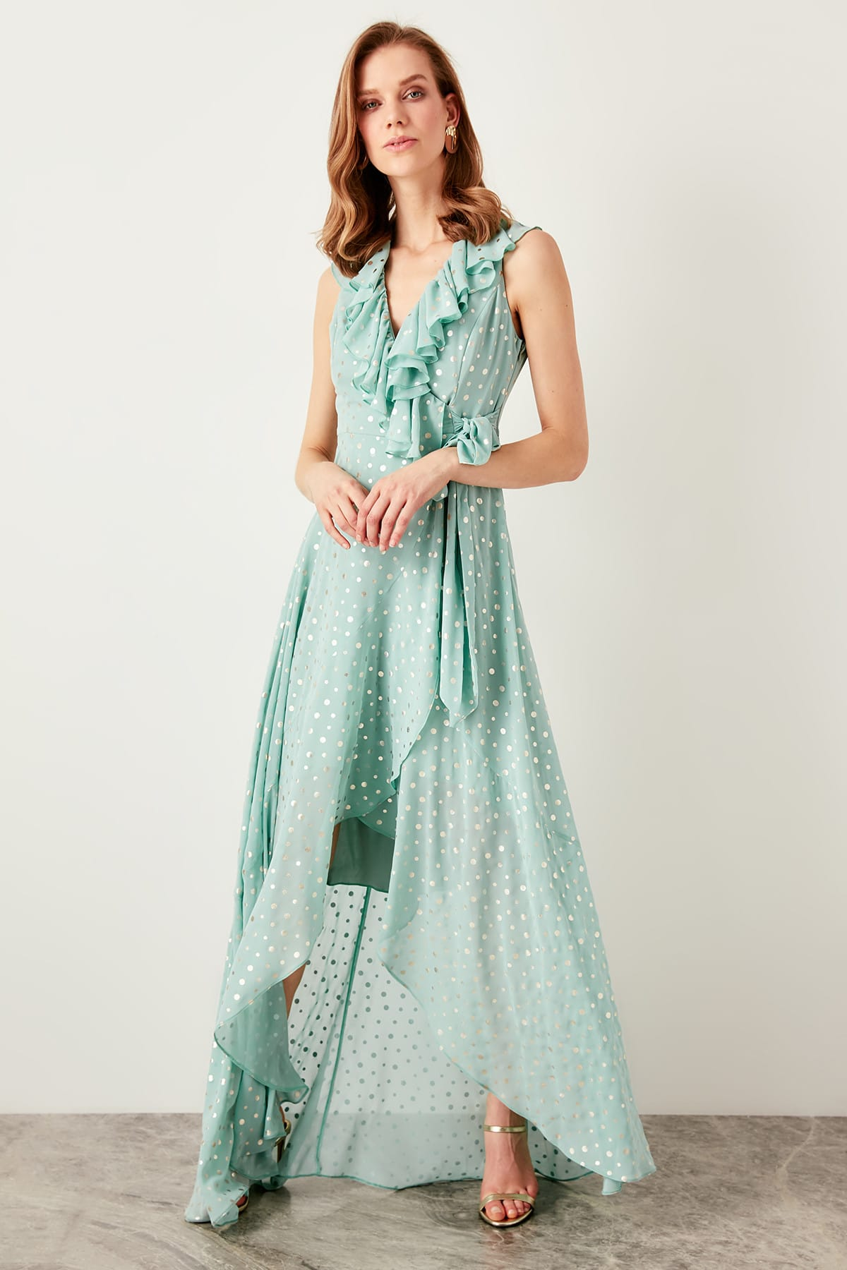 Trendyol Polka Dot Evening Dress TPRSS19UT0045