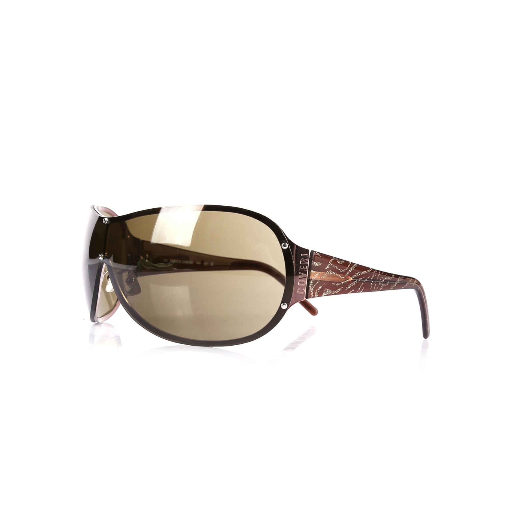 Women's sunglasses ec 940 001 metal copper organic rectangle rectangle 135-125 enrico coveri фото