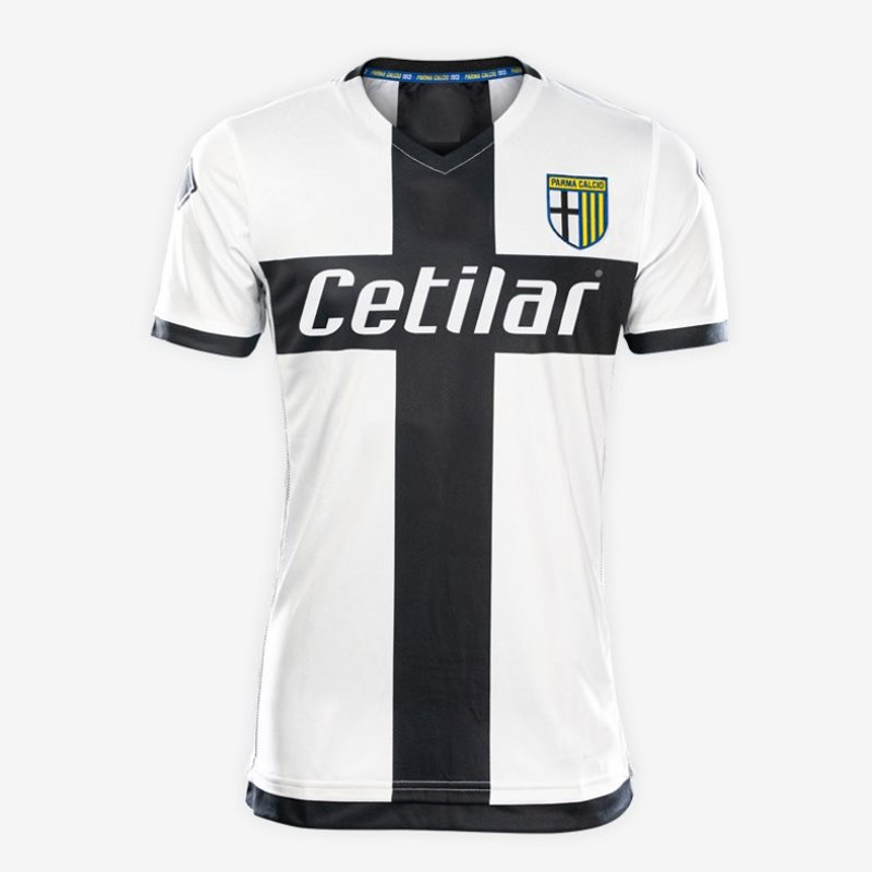 US $17 99 |Parma 2019 2020 new home Black and white tee jerseys High  quality Italy Parma fc 19 20 Roberto Inglese Alberto Grassi-in T-Shirts  from