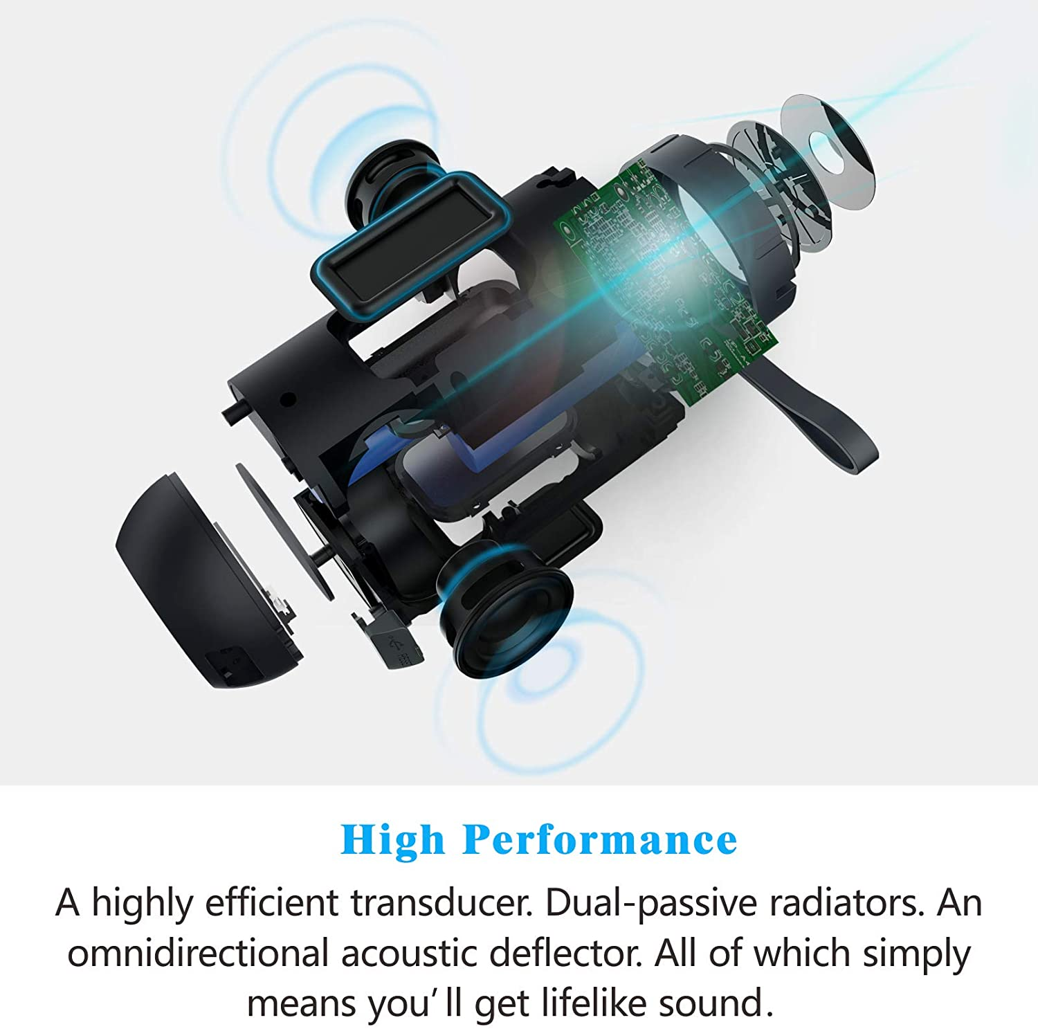 COMISO Waterproof Bluetooth Speakers Outdoor Wireless Portable Speaker with 20 Hours Playtime Superior Sound speaker for iphone 2