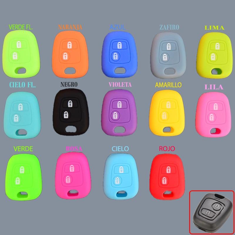 Силиконовый чехол для ключа CITROEN C1 C2 C3 C4 PEUGEOT 107 207 307 407 106 206 306 Силиконовый протектор