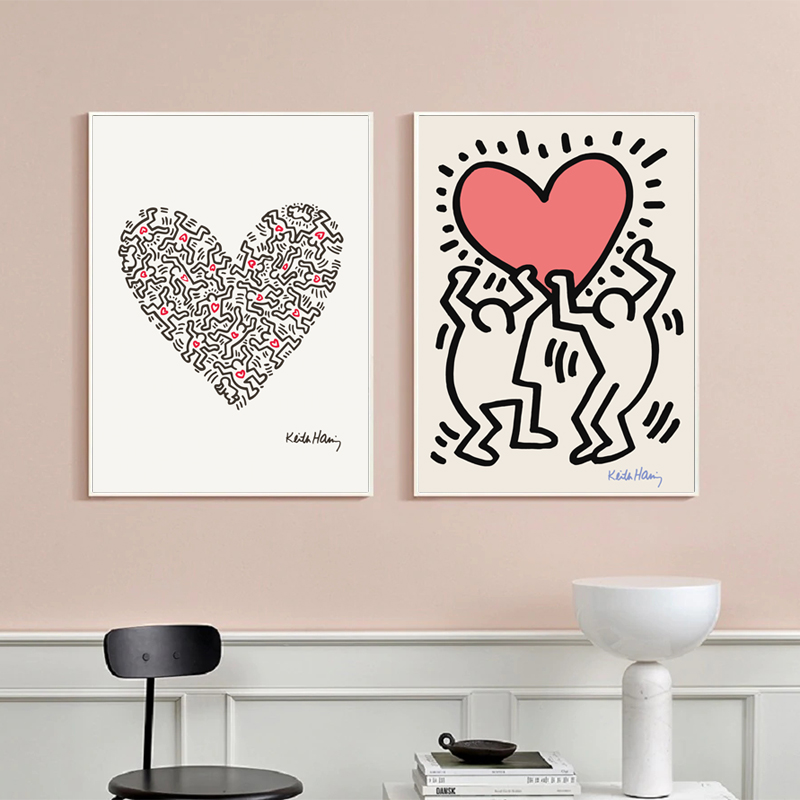 Keith Haring canvas art print