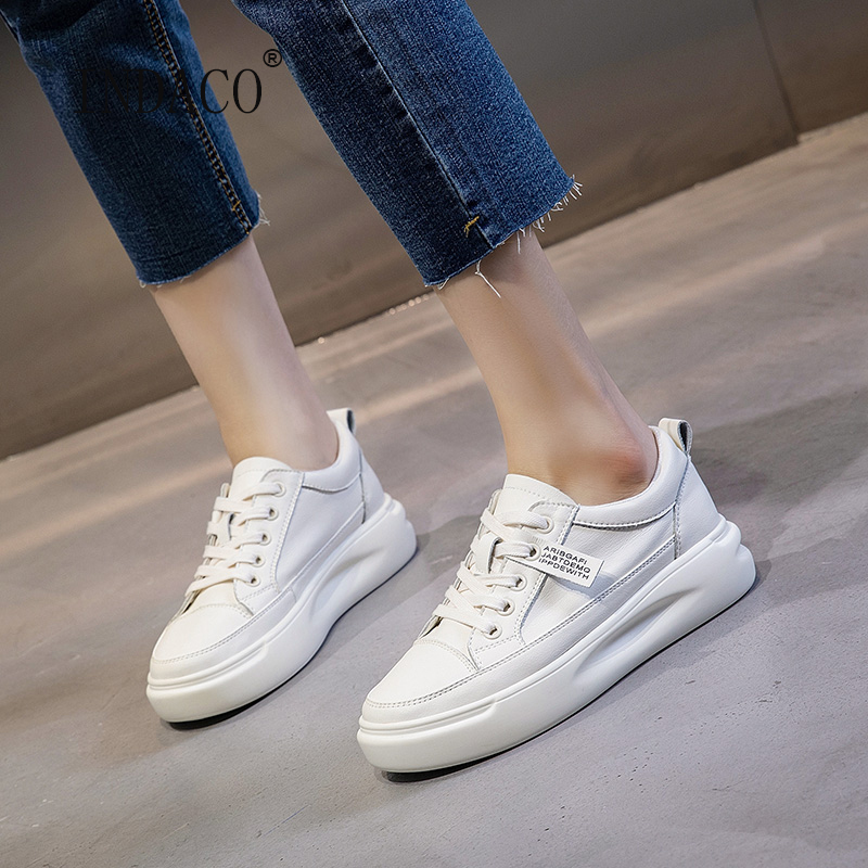 White Shoes Ladies Sneakers Woman Shoes Sneakers 4cm Off White Shoes