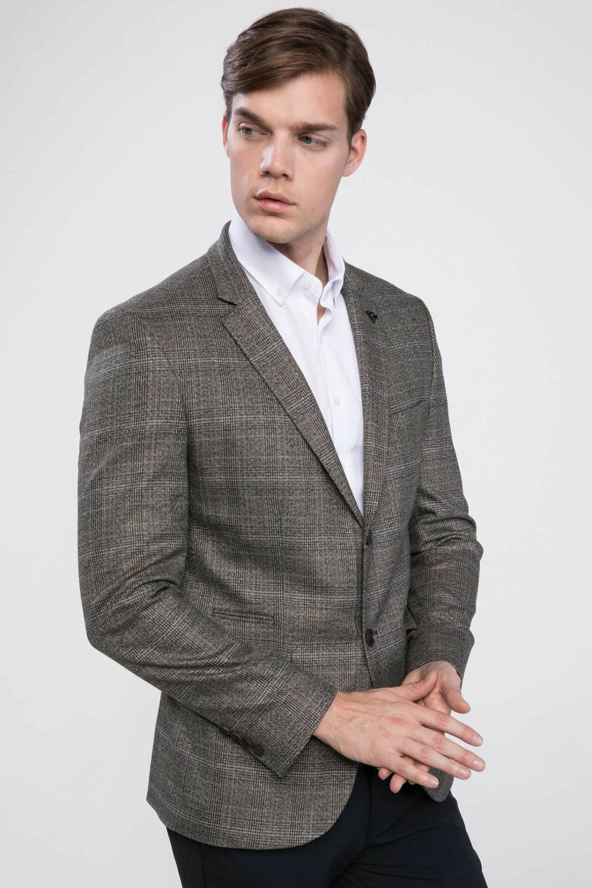 DeFacto Quality Brand Men Blazers Plaid Pattern Men's Formal Occasions Coat Men's Fashion Blazers Joker New - J4351AZ18WN