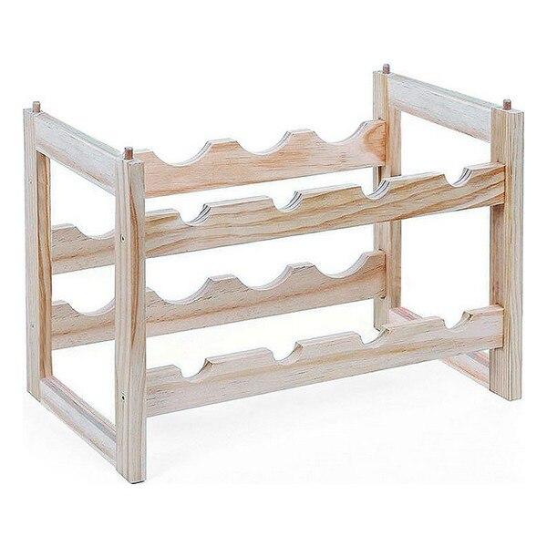 ชั้นวางขวด Confortime ไม้ (8 ขวด)