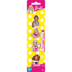 Erasers Barbie curly Collection 4 PCs