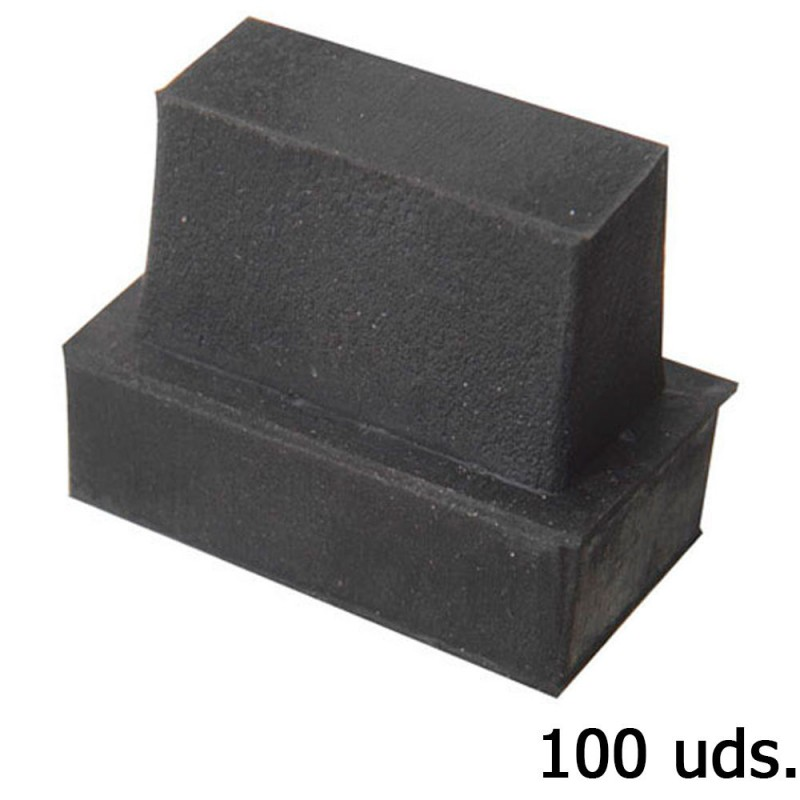 Cone Rubber Rectangular 28x13mm. Bag 100 Pcs