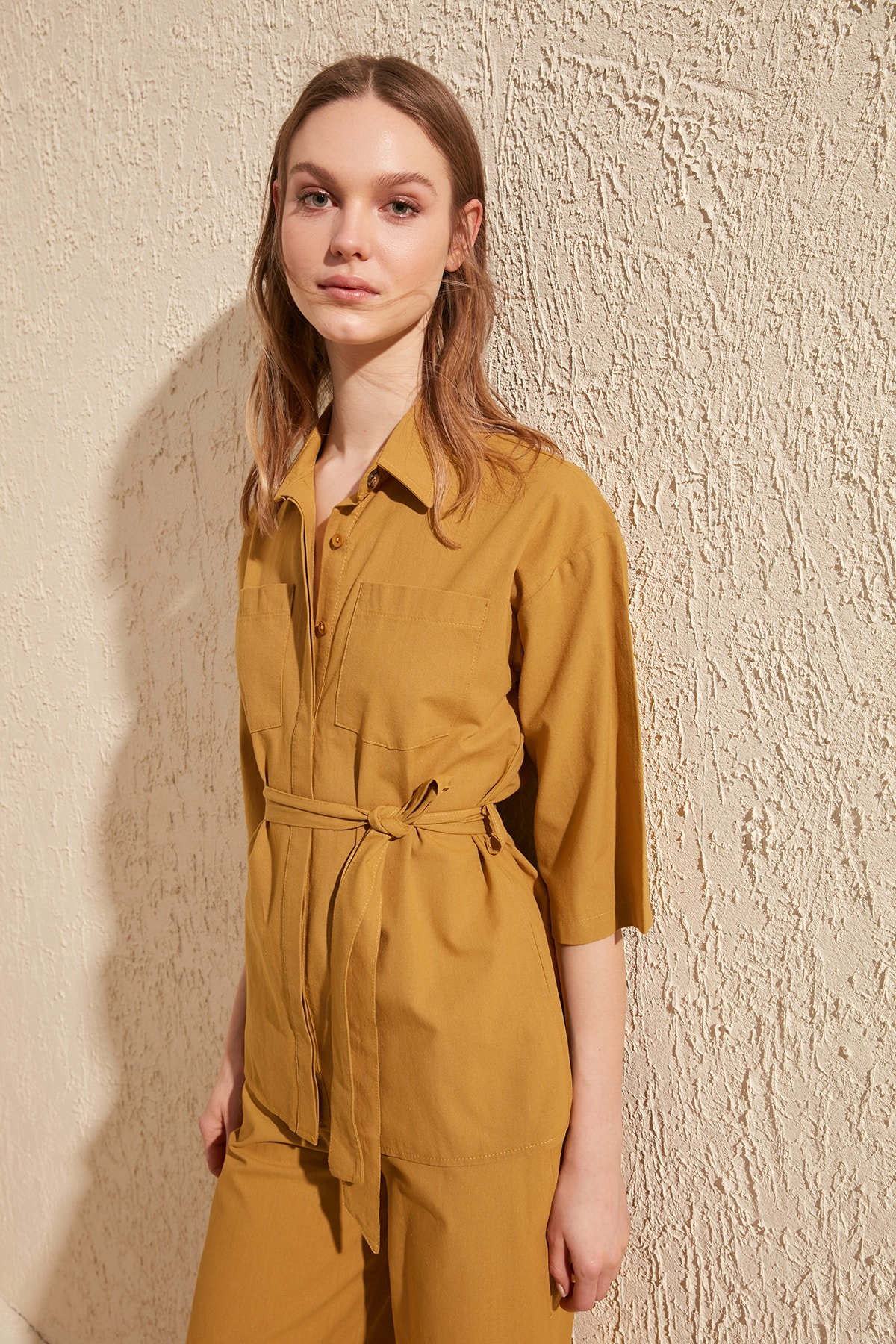 Длинная рубашка TWOSS20GO0061|Блузки и рубашки|   | АлиЭкспресс