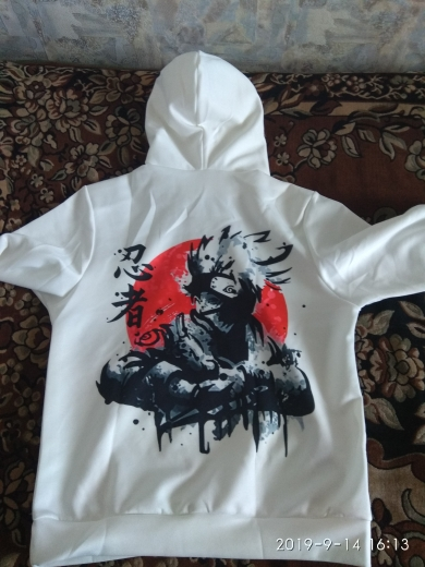 Akatsuki Itachi Hoodies Jacket Men 3D photo review