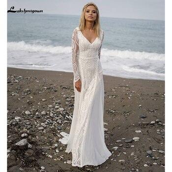 Lakshmigown bohemio boda Vestido 2021 de alta calidad de manga larga encaje...