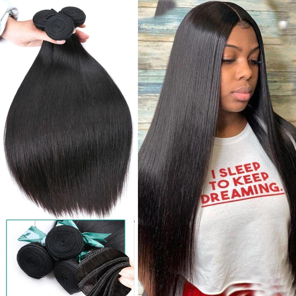 Malaysian Straight Hair Bundles 100% Human Hair Extension 8-30inch Natural Color 1/2/3/4 Bundles Straight Hair Weaves