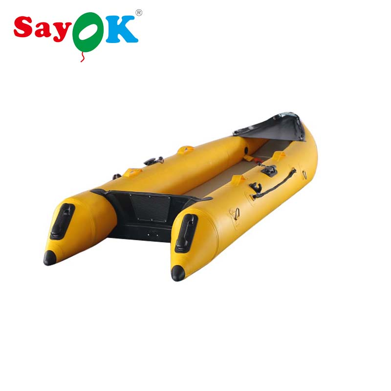 365cm Inflatable Kayak Inflatable Fishing Boat  Portable Sport Kayak Canoe / Paddles With Oars For Sale
