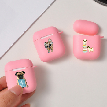 Cute Cartoon Funny Dog Cat Soft TPU Case for Apple Airpods 1/2 Luxury Tendy Gift Bluetooth Wireless Earphone Cover image