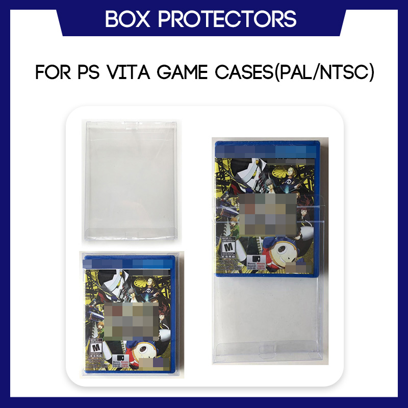 Box Protector Sleeve For PS Vita Games Custom Made Clear Plastic Protection Cases