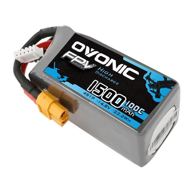 Ovonic 4S 14.8V 1500mAh 100C Lipo XT60