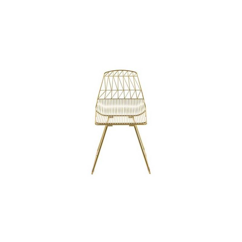 Dining Chair Metalic Zigzag (46x78x57 Cm)