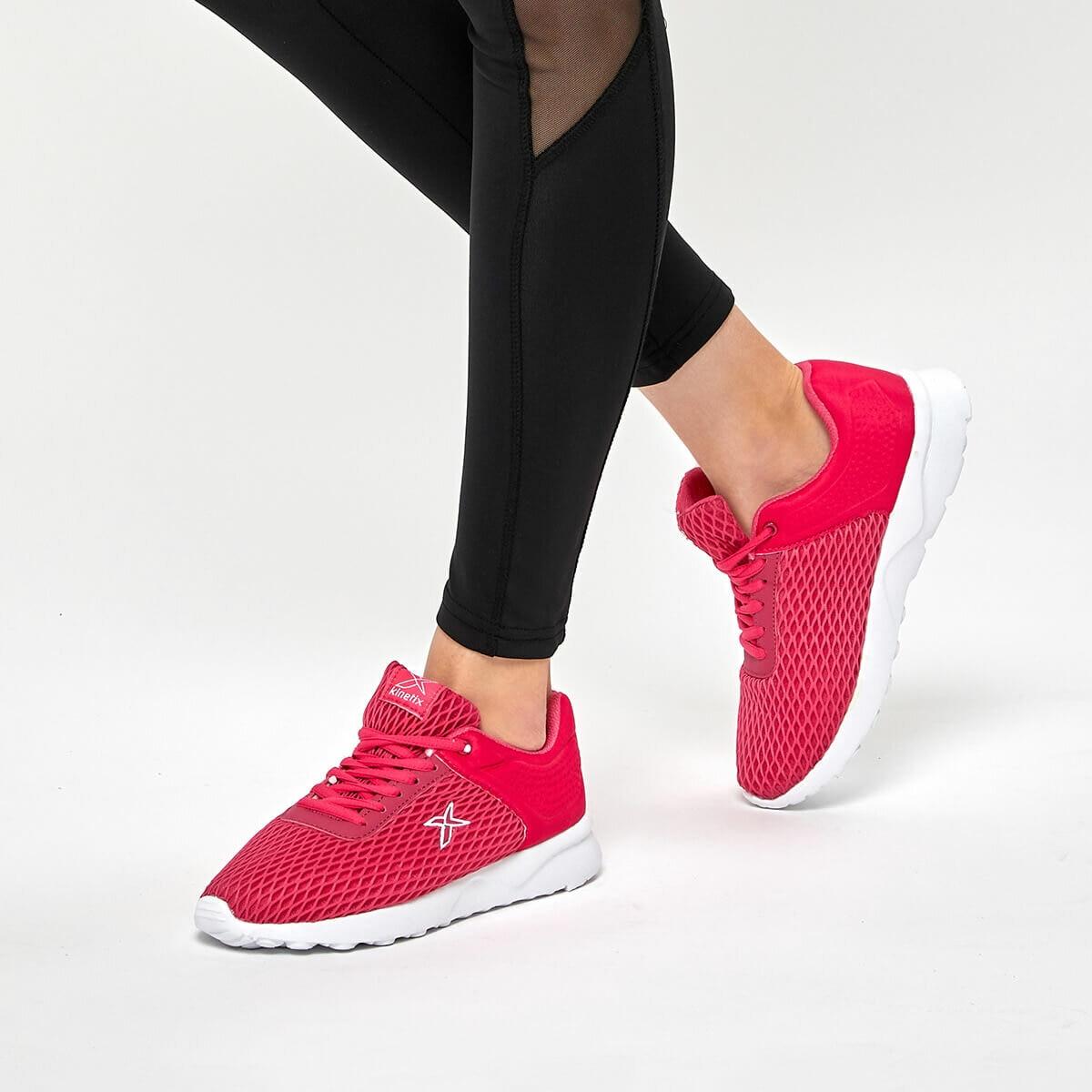 FLO Women Sneaker Sport Shoes Woman Sneakers Black Platform Trainers Women Shoe Casual Tenis Feminino Zapatos De Mujer Zapatillas Womens Sneaker Basket KINETIX TALY W Fuchsia