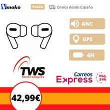 Беспроводная аурикулярная TWS i90000 pro 1:1 ANR GPS 4H зарядка аккумулятора работает для IOS и Android Доставка из Испании