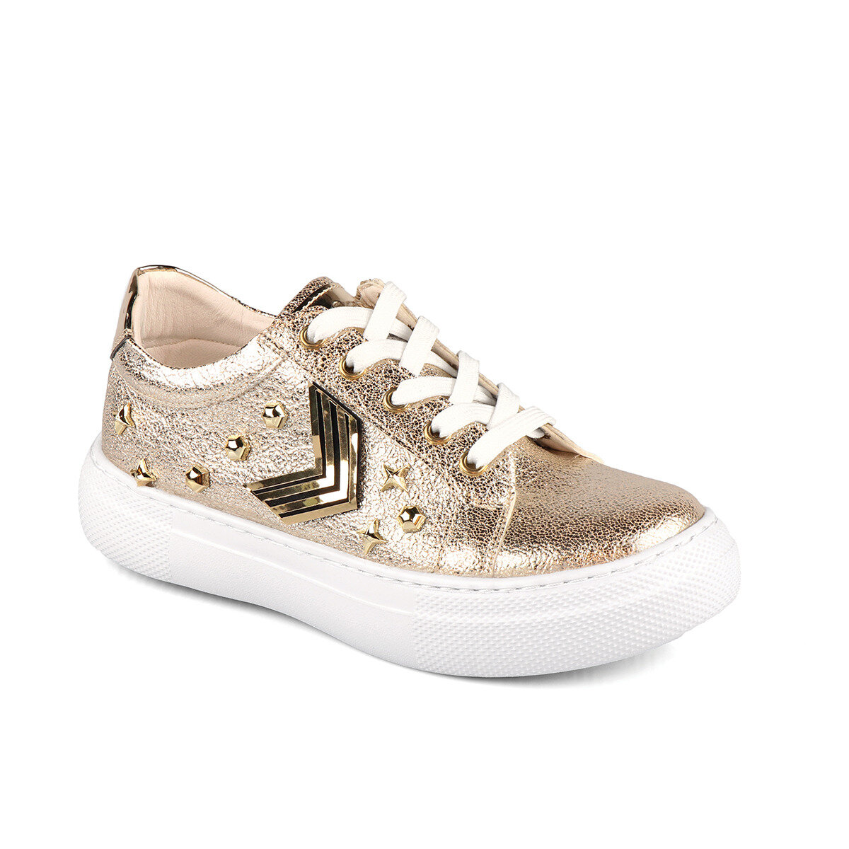 FLO 970.19Y.429 FILET Gold Female Child Thick Soled Sneaker VICCO