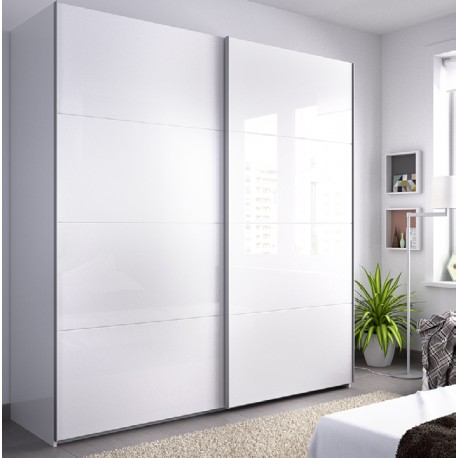 Wardrobe 2 Sliding Doors Slide 180 Cm Wide
