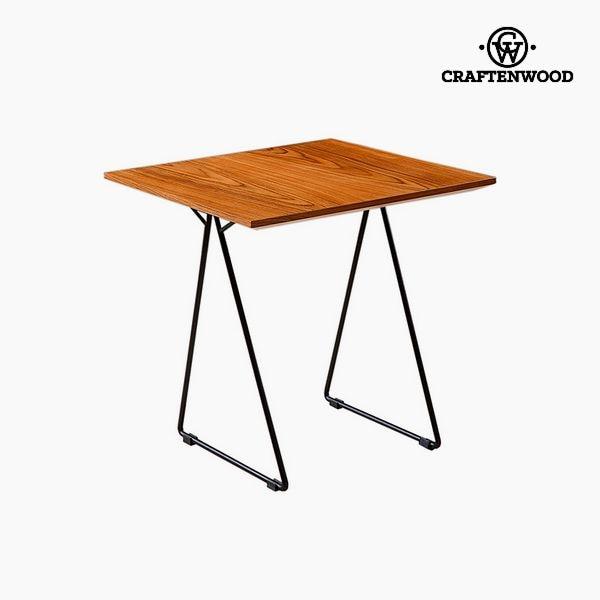 Side Table Walnut Mdf (55 X 55 X 55 Cm) By Craftenwood