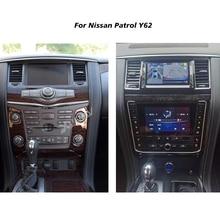 Автомагнитола с двойным экраном для Nissan патруль Y62 2014, 2015, 2016, 2017, 2018, 2019, 2020, Android, автомобильный стерео, мультимедийный плеер, Авторадио