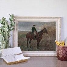 Vintage cartel de caballo impresiones ecuestres Retro arte de pared imagen Animal caballo arte de paisaje en lienzo pintura sala de estar decoración del hogar