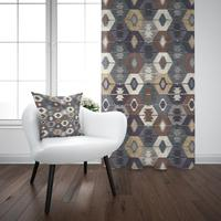 Anderes Braun Grau Blau Ethnische Türkischen Geometrische Vintage 3D Drucken Wohnzimmer Schlafzimmer Fenster Panel Vorhang Kombinieren Geschenk Kissen Fall-in Vorhänge aus Heim und Garten bei