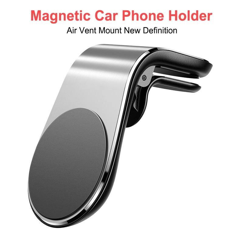 Горячая Распродажа металлический магнитный автомобильный держатель для телефона OnePlus 7 Мобильный телефон автомобильный вентиляционный ма...