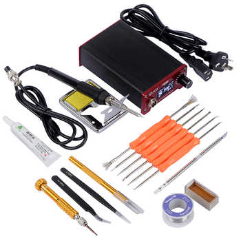 JCD T12 Soldering Iron Station Soldering Iron Anti Static and Temperature Adjustable Aluminum Alloy Case Power Equipments - DISCOUNT ITEM  32 OFF Tools