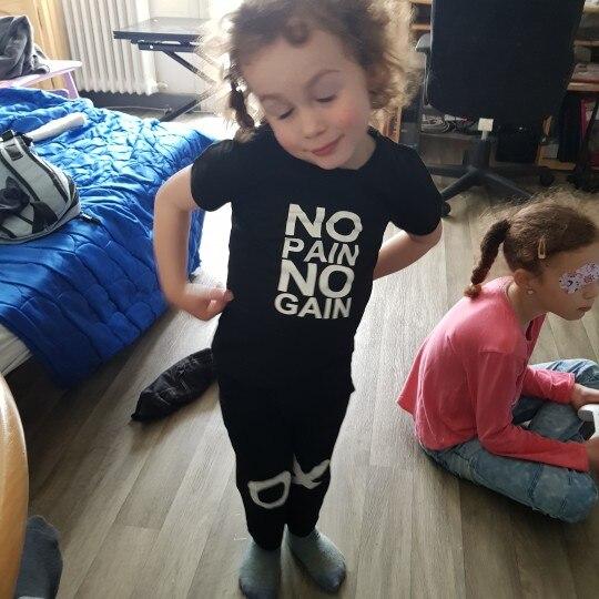 Pudcoco Boy Clothes 1Y-6Y Toddler Kids Baby Boy Outfits Clothes No pain no gain T-shirt Top Pants 2pcs Set photo review