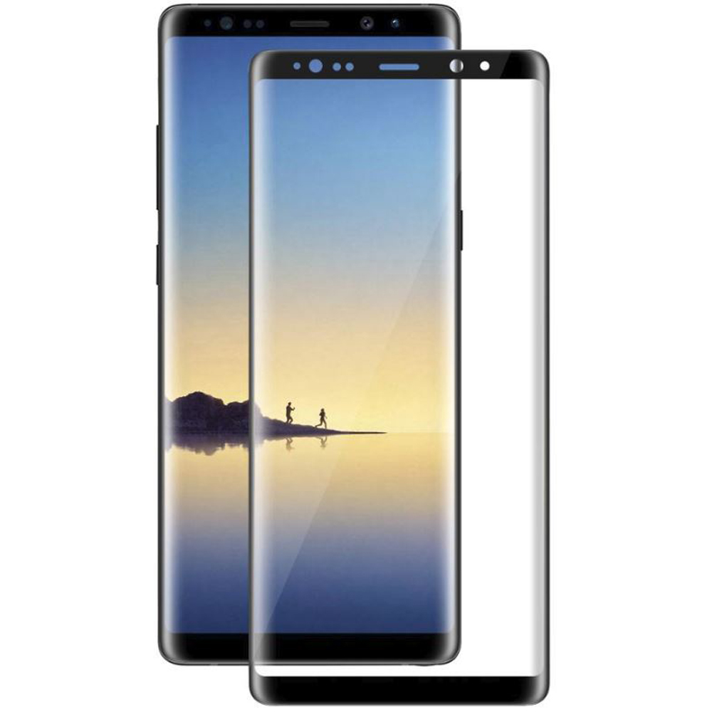 Screen Protector CRYSTAL tempered glass 3D full black covers 100 LCD for For SAMSUNG GALAXY NOTE 8