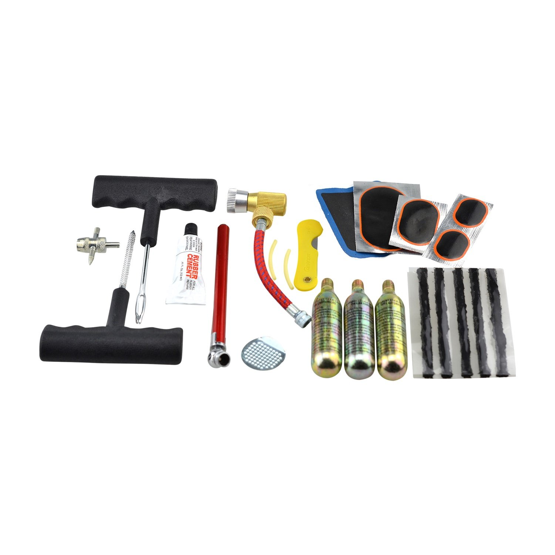 Kit de réparation crevaison a essence C02 roue voiture/moto