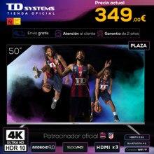Televisores Smart TV 50 Pulgadas TD Systems K50DLJ12US. UHD 4K HDR, DVB-T2/C/S2, HbbTV [Envío desde España, garantía de 2 años]