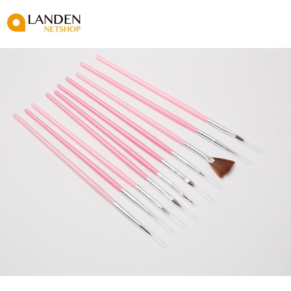 10 PCs UV Gel Acrylic Game Of NAIL Art Brushes For Manicure Toe Of Drawing Pencil NAIL Feather Painting