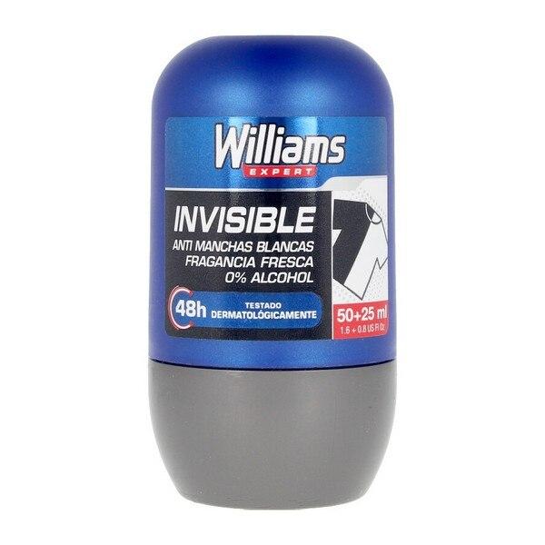 Roll-On Deodorant Invisible Williams (75 Ml)