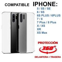 Doppel abdeckung 360 ° umfassende kompatibel mit Iphone 5 5S 6 6s 6 Plus 7 7 Plus 8 8 Plus X XS XR XS MAX 11 Pro TPU premium qualität