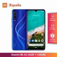 Xiaomi Mi A3 (128GB RAM, 4GB ROM, Triple cámara de 48 MP, Batería de 4030 mAh, Android, Nuevo, Libre) [Teléfono Movil Versión Global para España]