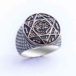 925 Sterling Silber Dichtung Von Solomon Ring