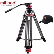 """Miliboo MTT602A profesyonel taşınabilir alüminyum sıvı kafa kamera tripodu kamera/DSLR standı Video Tripod 76 """"maks yükseklik"""