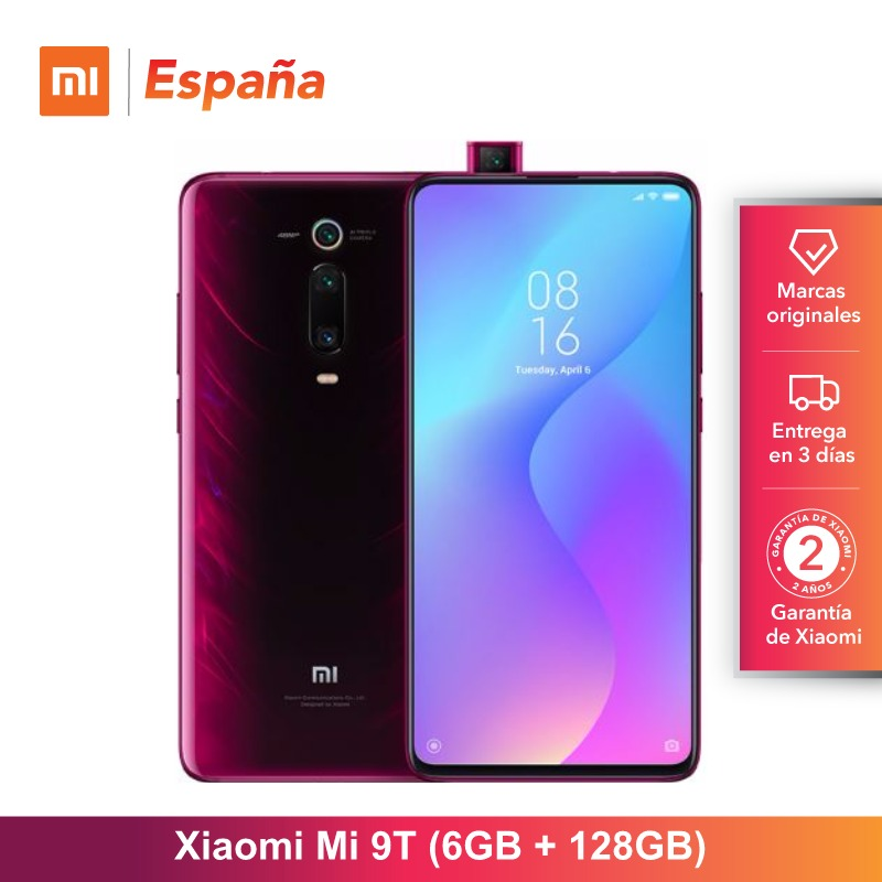 [Version mondiale pour l'espagne] Xiao mi mi 9T (memia interna de 128 GB, RAM de 6 GB, Triple cámara de 48 MP) movil
