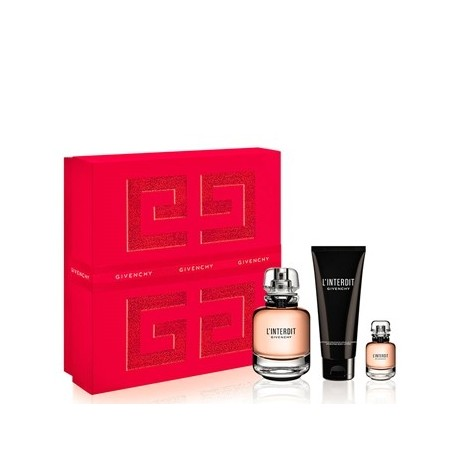 GIVENCHY L INTERDIT EDP 50ML + MASCARA VOLUME DISTURBIA BALCK 01 + LIP ROUGE LE 333 L INTERDIT