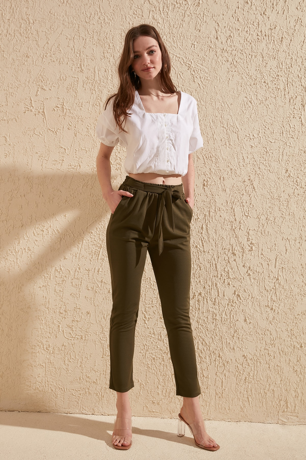 Trendyol Belted Knitting Pants TWOSS20PL0110
