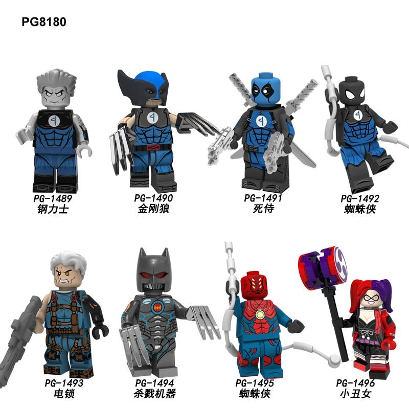 PG8180 Building Blocks Super Heroes Bricks Colossus Wolverine Deadpool Spider-Man The Murder Machine Figures Toys For Children
