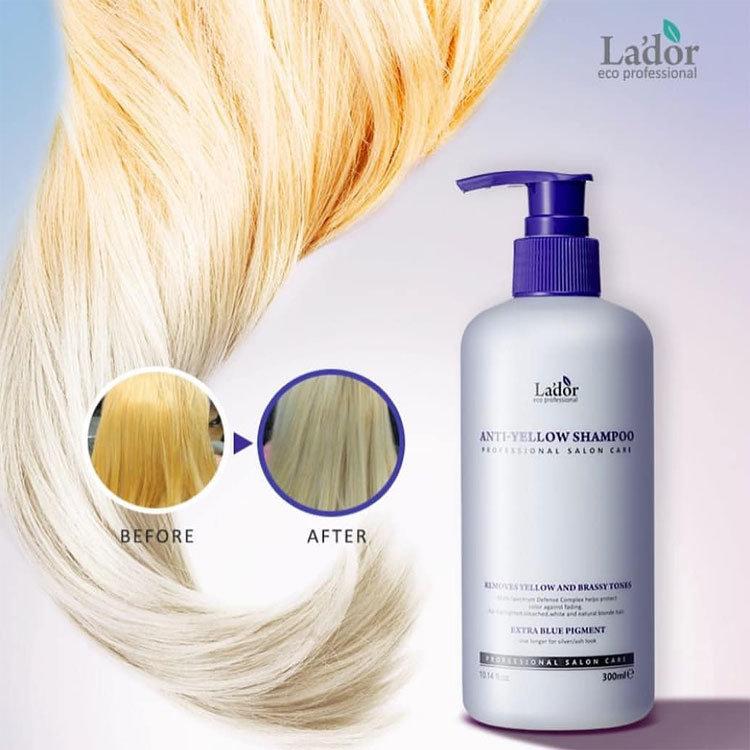 Lador Шампунь оттеночный против желтизны волос - Anti yellow shampoo, 300мл