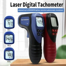Profession Handheld Digital LCD Tachometer Non-Contact Tach Range 2.5-99999 RPM Electric Speed Meter Tools uni t ut373 handheld lcd digital tachometer speedometer tach meter measuring rang 0 99999 count