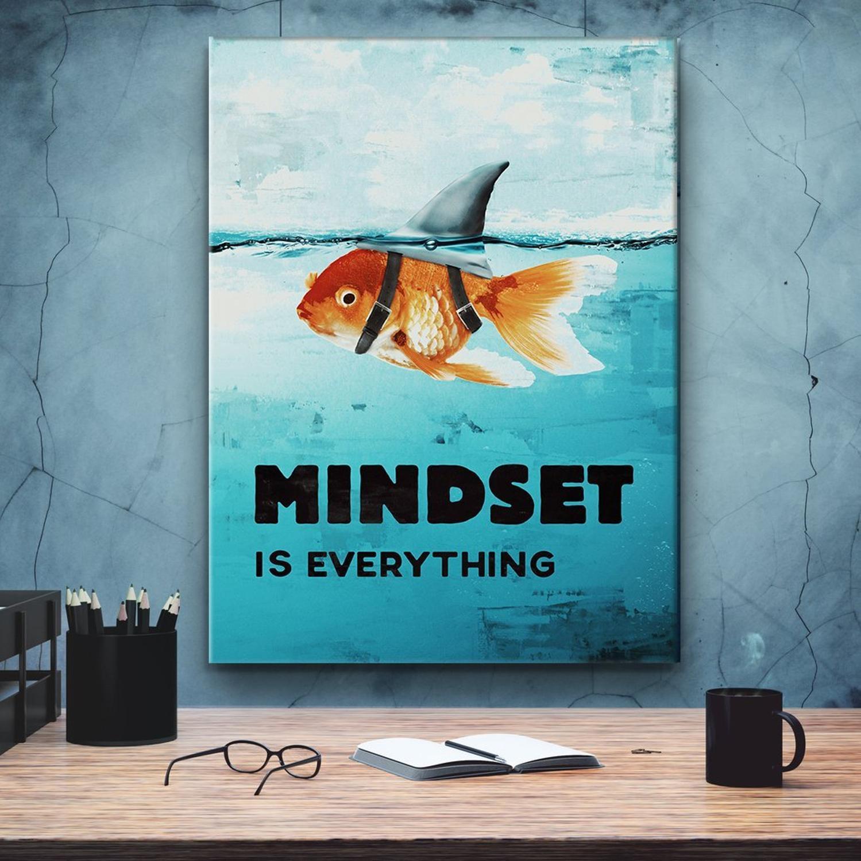 fish illustration mindset is everything