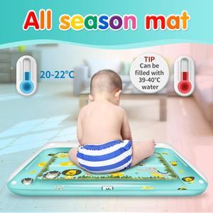 Image 5 - Bauch Zeit Spielen Matte Aufblasbare Baby Wasser Mat Infant Baby Matte Spaß Aktivität Spielen Kleinkinder Spielzeug für 3 12 monate